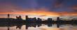 Portland Oregon Downtown Waterfront Skyline Sunset Panorama