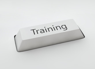 Education concept - Training key