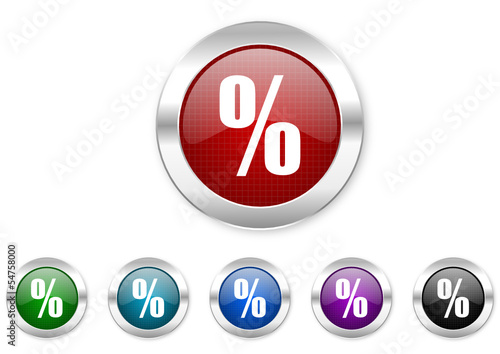 percent icon set
