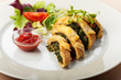 Spinat-Omelett in Scheiben
