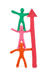 teamwork plasticine figurines