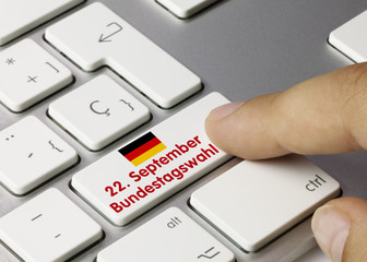 22. September Bundestagswahl. Tastatur