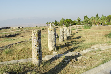 ruins of the ancient city of Hierapolis, Turkey