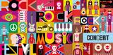 Fototapety Rock Concert Poster