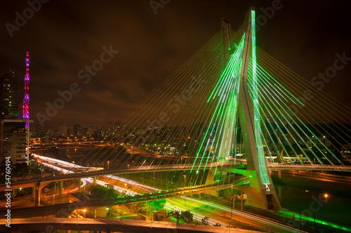 Papiers peints Pont Sao Paul city bridge at night