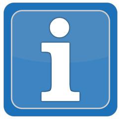 icon, information symbol, blau