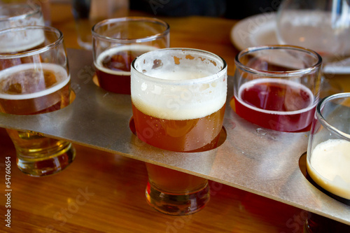 Beer Samplers at Brewery