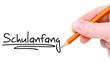 Schulanfang Handschrift