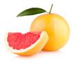 ripe grapefruit isolated on white background