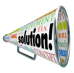 Solution Megaphone Bullhorn Spreading Answer to Problem