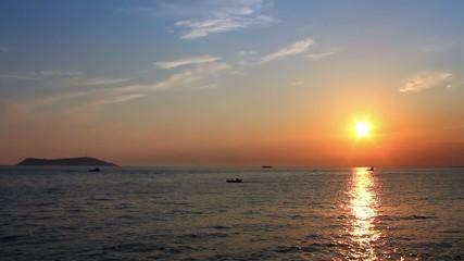 Ocean sunset.
