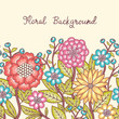 Floral background. Seamless floral ornament