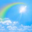 青空の虹と太陽