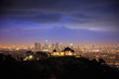 Los Angeles at night. Griffith Observatory.