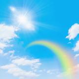 青空の虹と太陽 - Fine Art prints