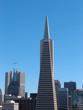 Transamerica Pyramid and tall buildings of downtown of San Franc