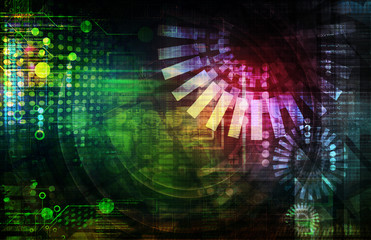colorful technology abstract background