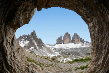 Tre cime di Lavaredo with Paternkofel, Dolomite Alps, Italy