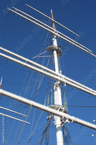 sail on blue sky
