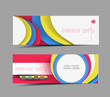 set of abstract header vector design.