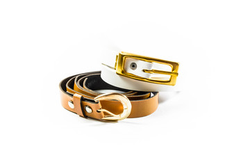 two belt for lady isolated