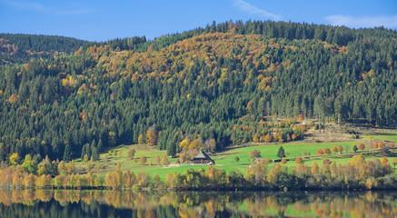 Herbst am Schluchsee im schwarzwald