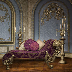 Komnata w barokowym pałacu