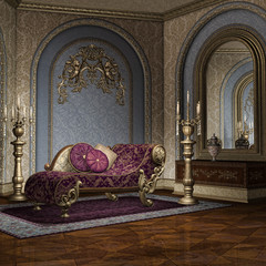 Luksusowa komnata pałacowa