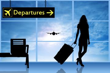 Departures in airport