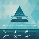 Triangle seamless background. Retro label design. Infographics c