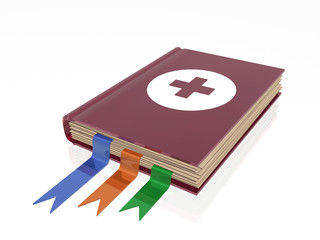 Book with red cross