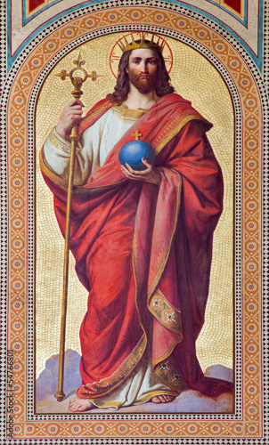 Vienna - Fresco of  Jesus Christ as King - 54766801