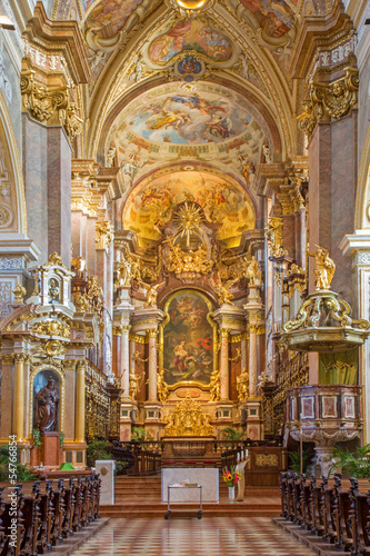 Vienna - Baroque altar of monastery church in Klosterneuburg