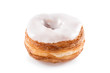 White fondant croissant and donut mixture