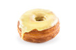 Yellow fondant croissant and donut mixture