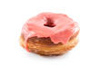 Strawberry fondant croissant and donut mixture