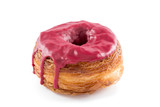 Red fruits fondant croissant and donut mixture