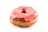 Strawberry fondant croissant and donut mixture