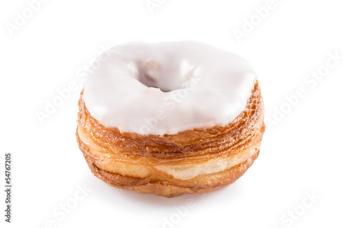 White fondant croissant and donut mixture