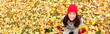 Autumn / fall banner background texture woman - 54767414