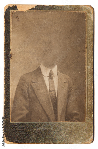 Old photo isolated on white background
