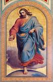 Vienna - Fresco of  Jesus Christ as seedsman