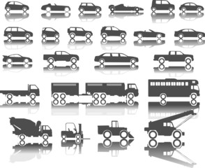 cars icon on white background