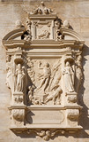 Vienna - Tomb stone with the resurrection of Jesus relief