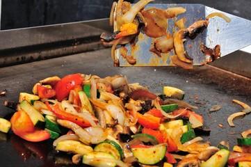 Légumes cuit  à la plancha