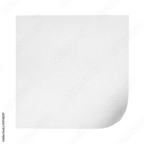 Paper note isolated on white