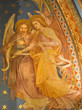 Vienna - Fresco of angels in Klosterneuburg monastery church
