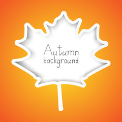 Autumn paper background with place for text