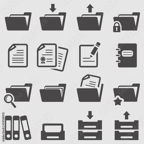 Folder icons set.Vector