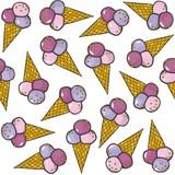 owocowe lody w rożkach nieskończony deseń
